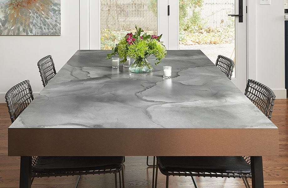 Watercolor Steel dining room table