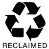 Red recycle triangle reclaimed