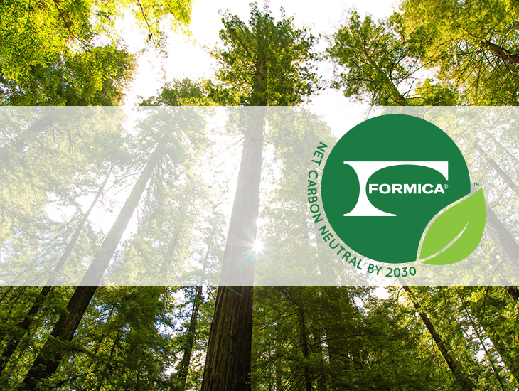 Sustainability Formica Net Carbon Neutral by 2030 logo