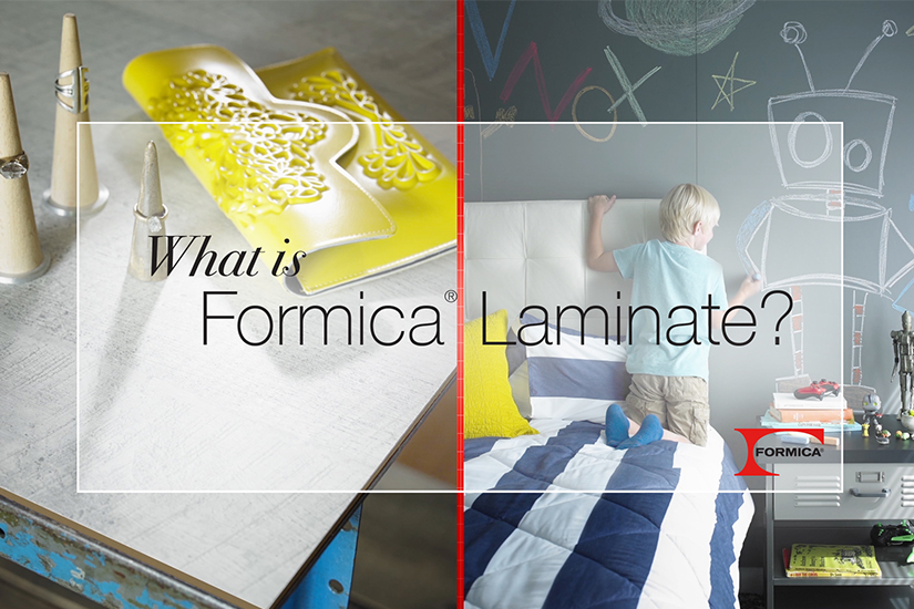 What is Formica Laminate video image of chalkboard wall and Formica Laminate table.