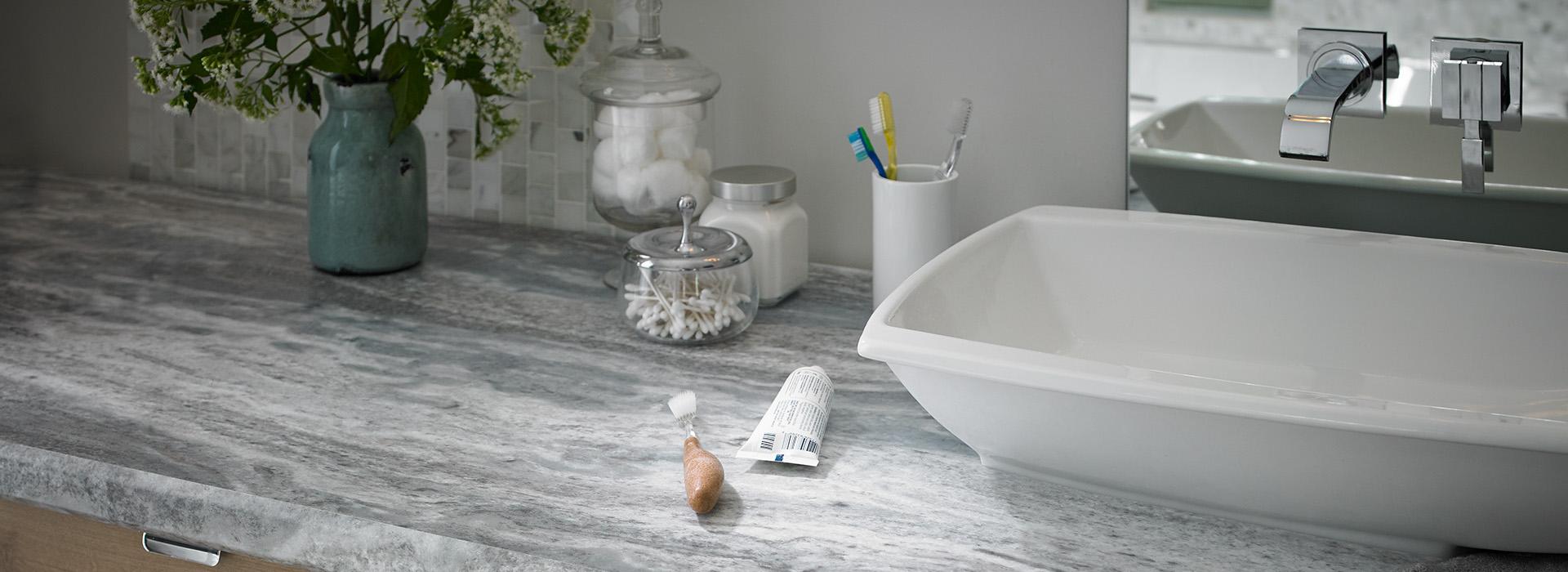 Bathroom Counter Vanity 9302 Fantasy Marble 180fx