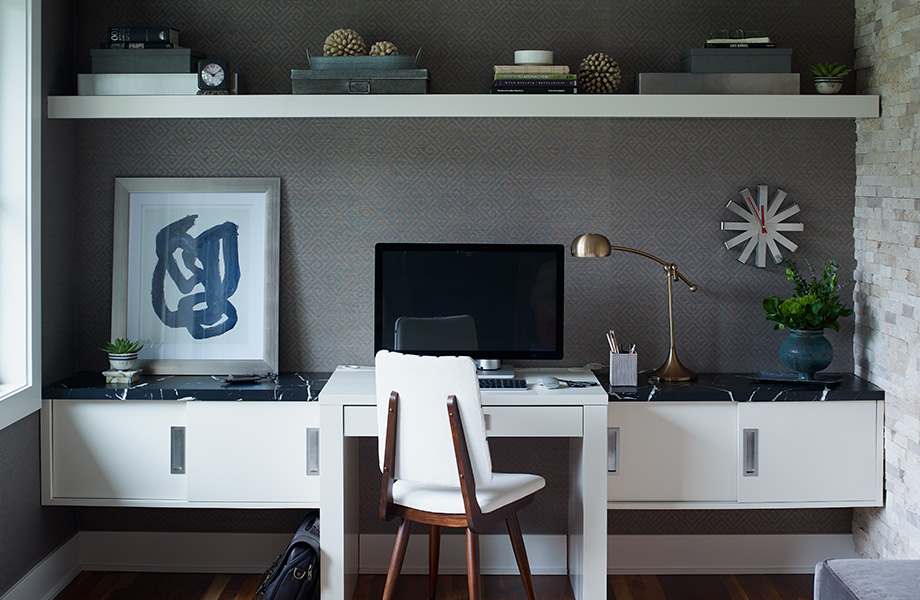 Modern home office 7403 Nero Marquina 180fx