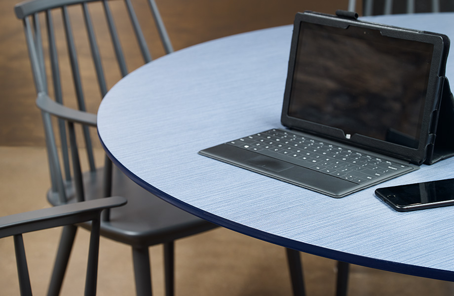 Table top with laptop 8814 Denim Twill ColorCore2 Compact