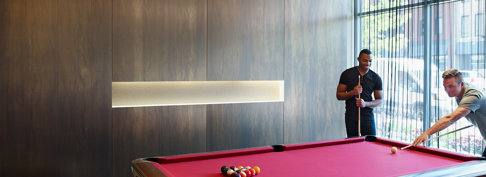 Game room pool table wall M6484 Argent Craft M8547 Oxibronze DecoMetal