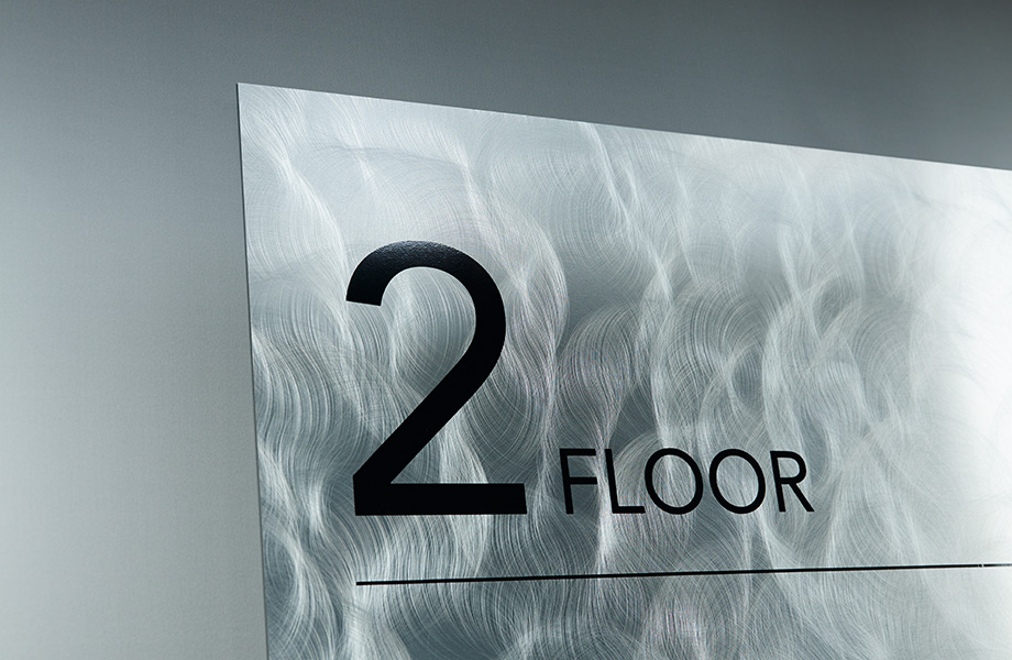 Elevator sign M4511 Aluminum Crush II DecoMetal