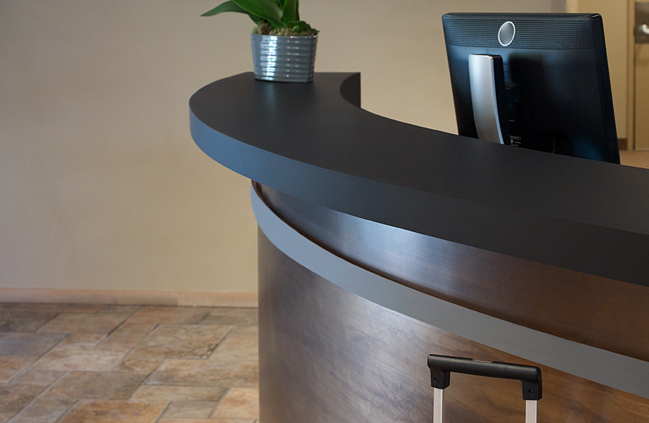 Reception desk M8547 Oxibronze DecoMetal