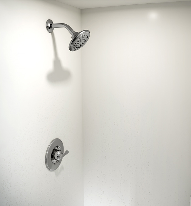 Shower head 102 Arctic Formica Solid Surfacing