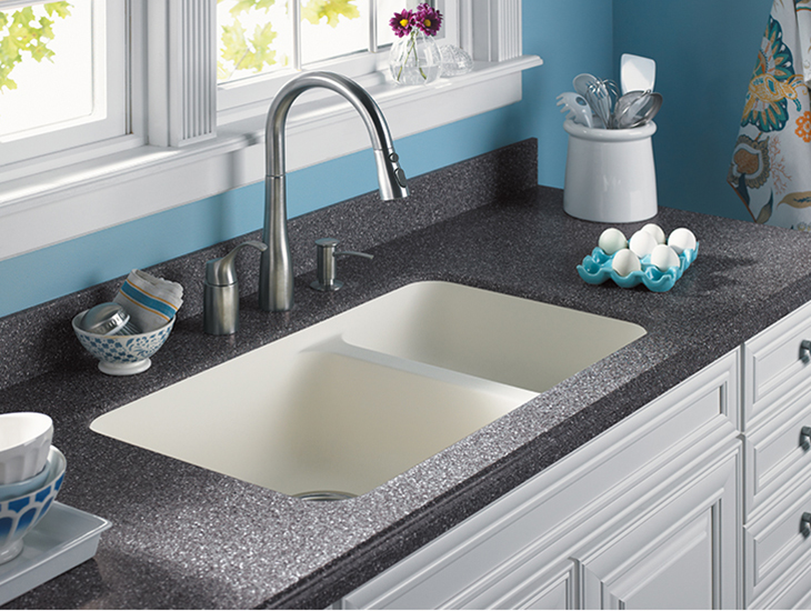 Kitchen sink with eggs K155 715 Gothic Cornerstone Formica Solid Surfacing