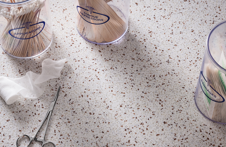 Doctors office supplies 742 Blanco Terrazzo Formica Solid Surfacing