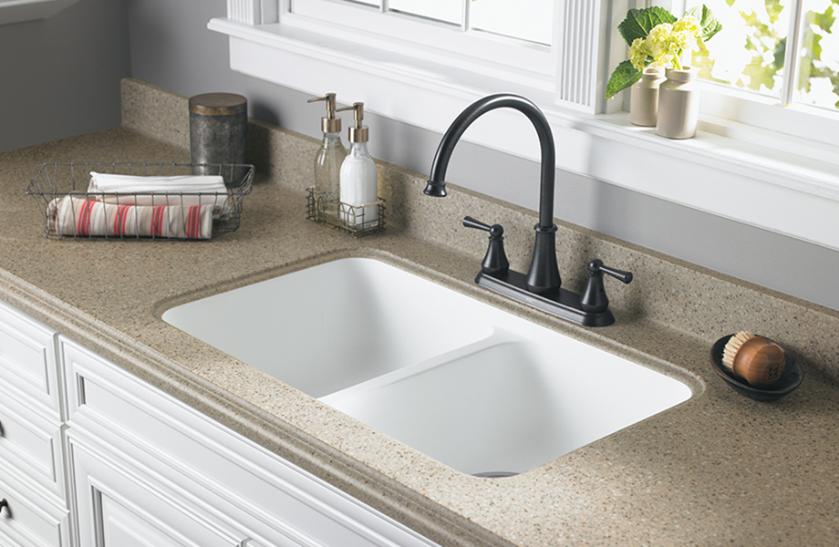 Kitchen Sink With Towels K250 656 River Rock Mosaic Formica Solid Surfacing