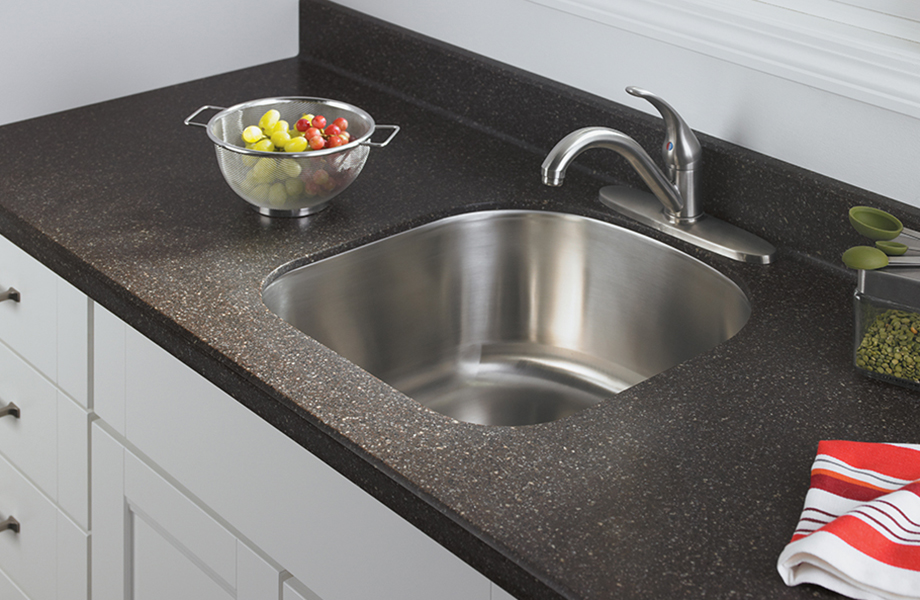 Kitchen Sink With G K250 651 Chicory Mosaic Formica Solid Surfacing