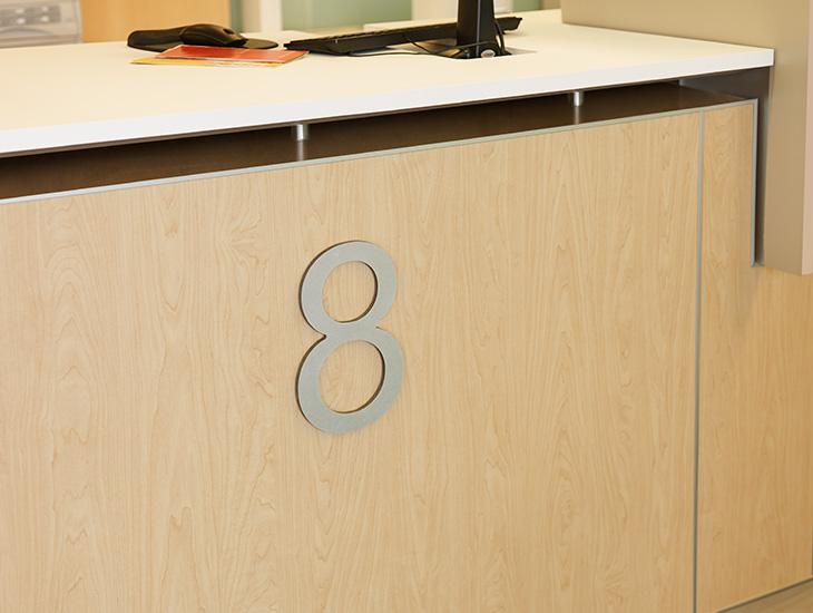 Reception desk 7012 Amber Maple HardStop