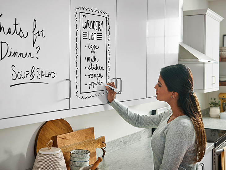 Dry erase kitchen cabinet doors 949 White Writable Surfaces