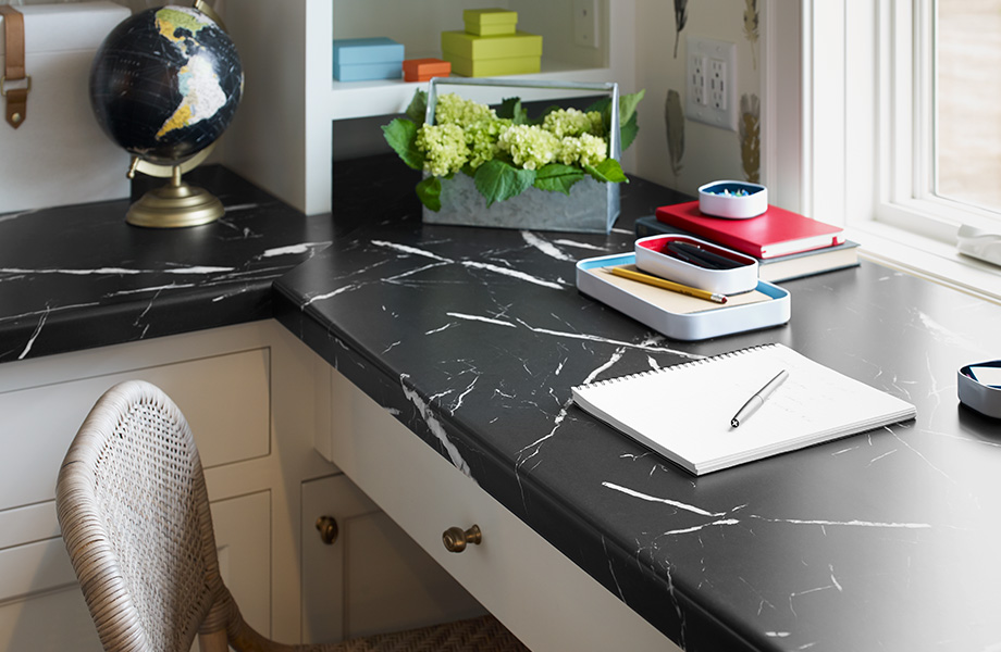 Small Renovations That Make a Big Impact: Embrace the timeless colour scheme of black and white  with Formica® Laminate