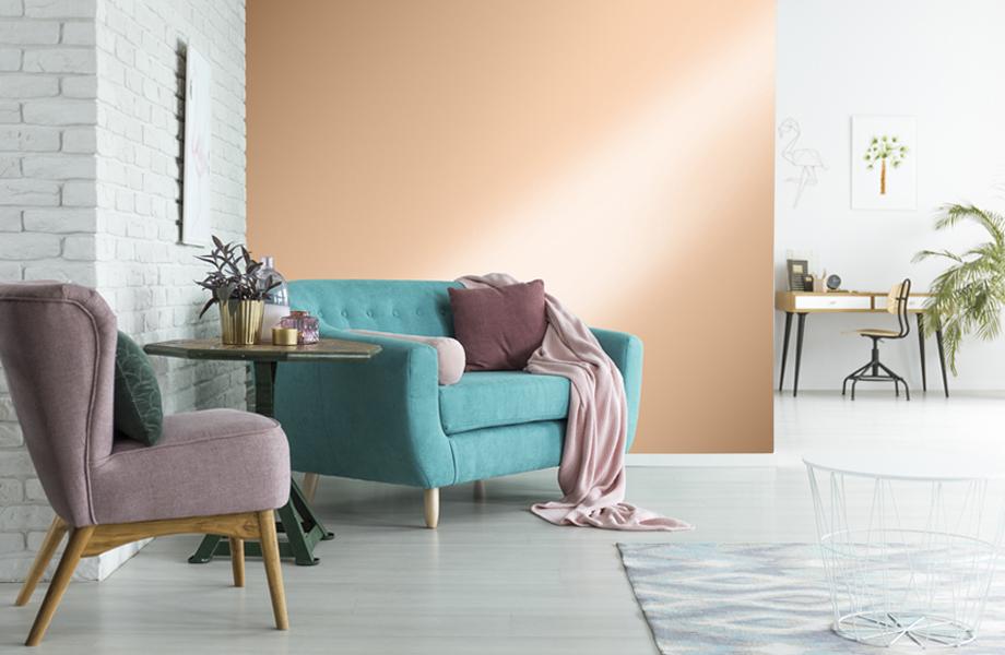 Espacios combinados en rosa Polished Copper