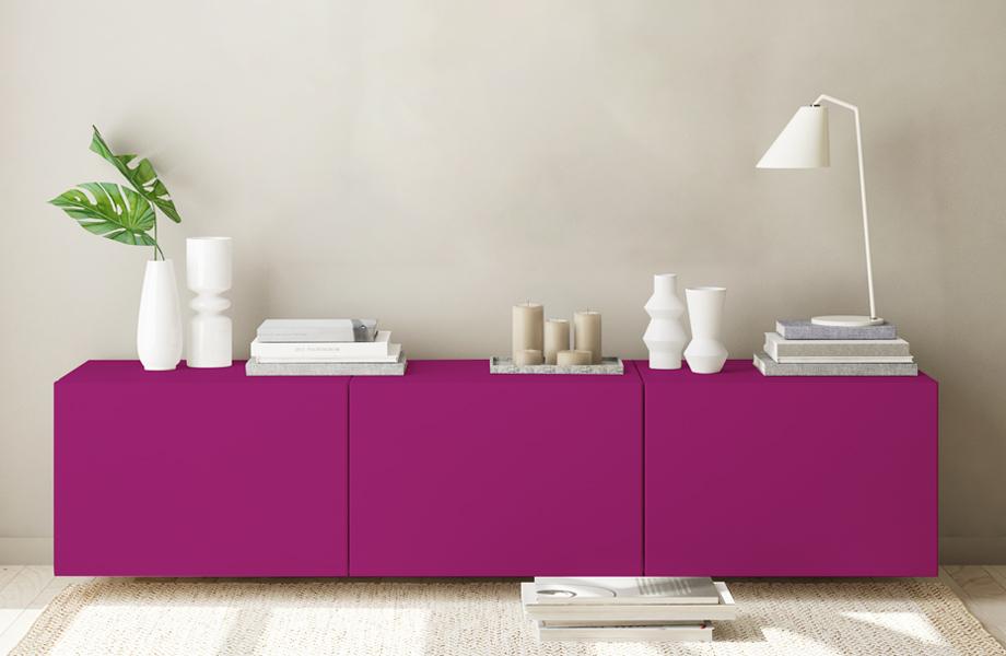 Espacios combinados en rosa Mueble Amarena