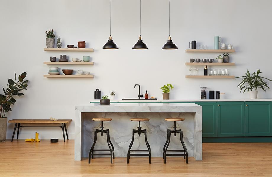Formica Laminate Waterfall Kitchen Countertop