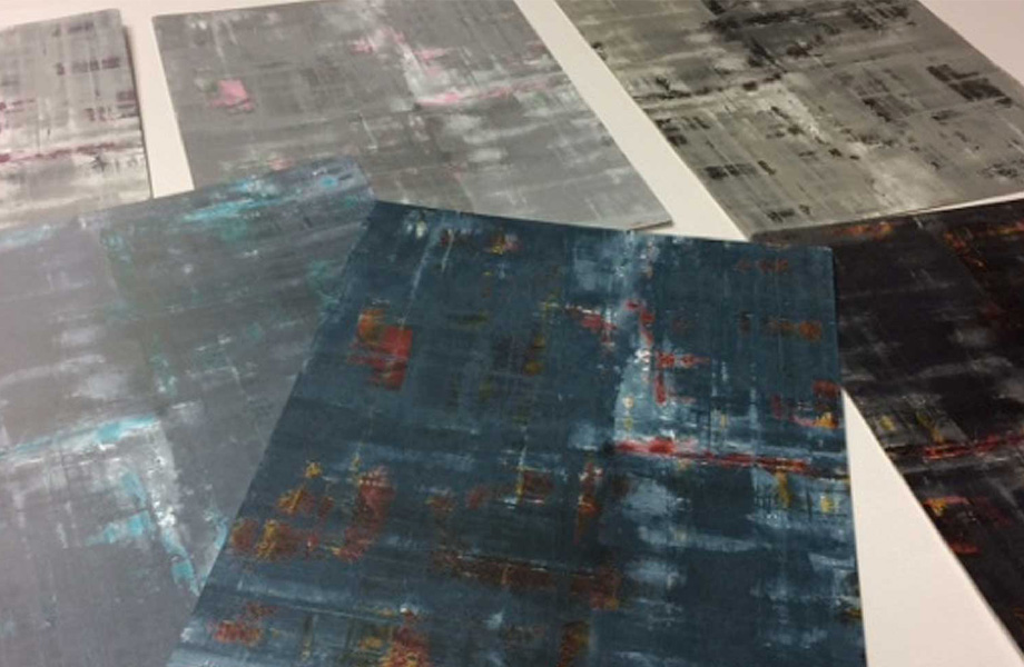 Paint Scrape Design Process