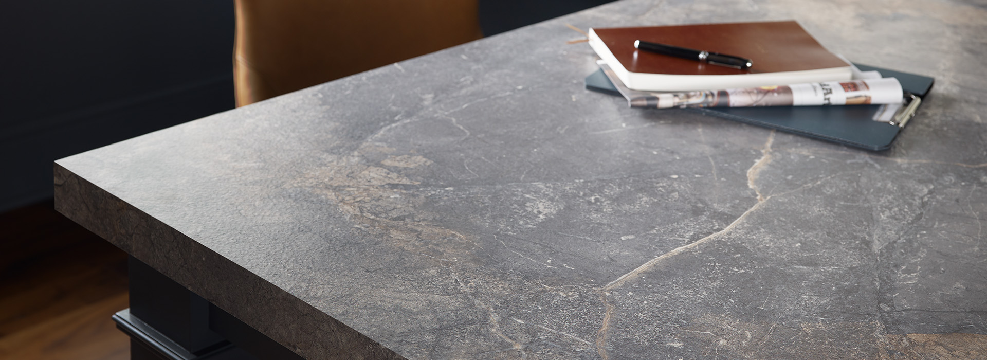 Home office desk with notebook 7405 Istanbul Marble 180fx