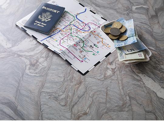 Map and passport 7404 Neapolitan Stone 180fx