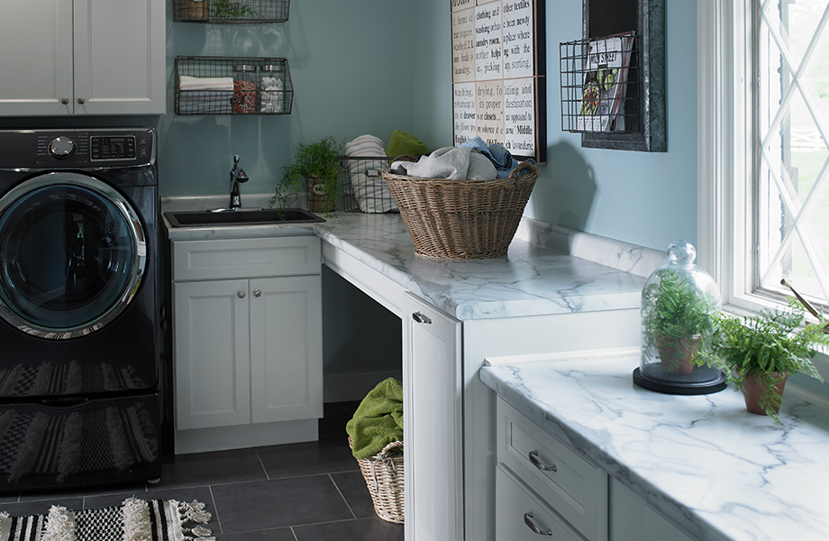 Laundry room countertop 3460 Calacatta Marble 180fx