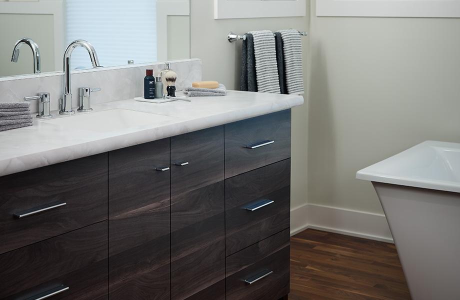 Bathroom vanity 7411 Smoky Planked Walnut 180fx