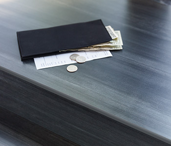 Countertop with wallet 8918 Blackened Steel ColorCore2 Compact