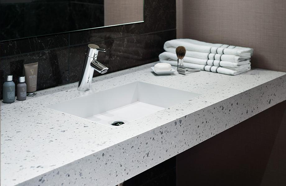 Tinted Paper Terrazzo bathroom