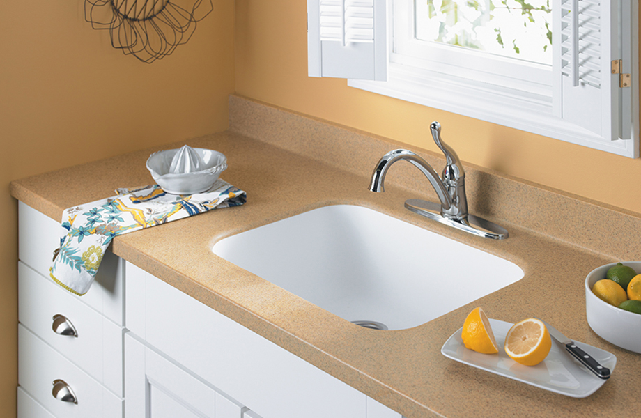 Kitchen sink with lemons K080 306 Ginger Root Mist Formica Solid Surfacing
