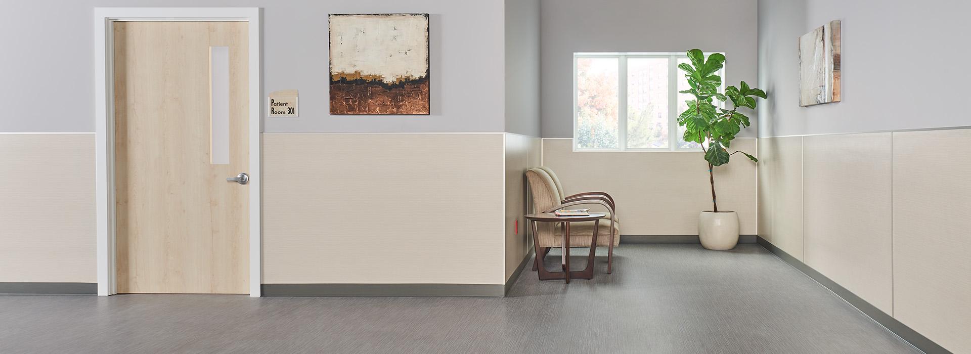 Hospital hallway 8826 Neutral Twill HardStop