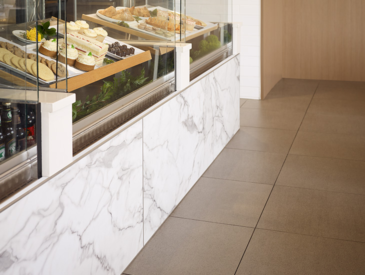 Bakery display case 3460 Calacatta Marble HardStop