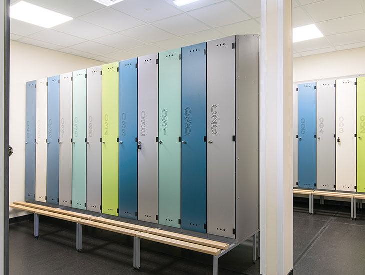 Washroom lockers