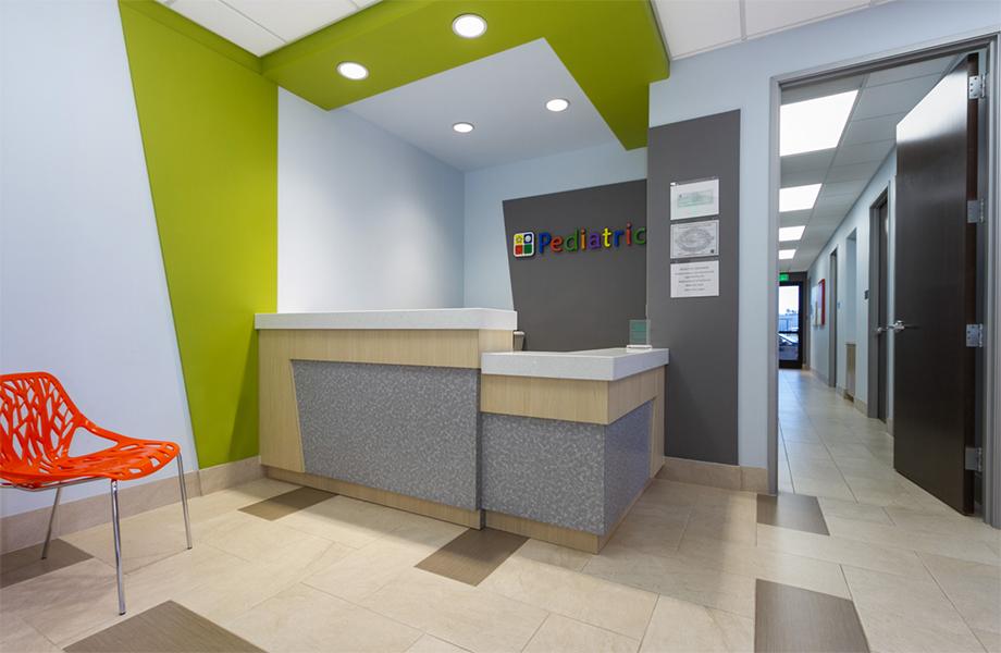 Le Centre médical El Monte – Arcel Design - Le service de pédiatrie du Mayflower - stratifiés de marque Formica®