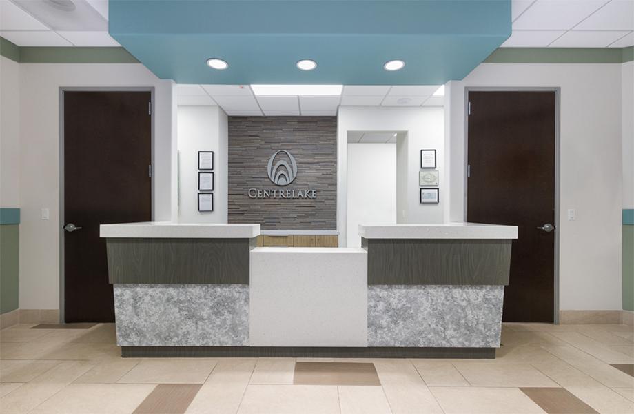 Le Centre médical El Monte – Arcel Design - le centre d'imagerie et d'oncologie de Centrelake - stratifiés de marque Formica®
