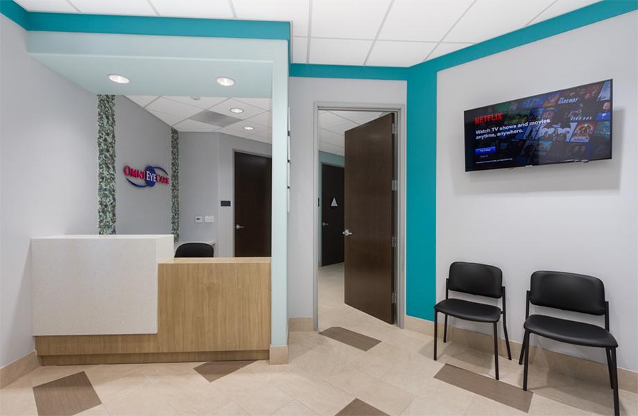 Le Centre médical El Monte – Arcel Design - le centre d'optométrie Omni - stratifiés de marque Formica®