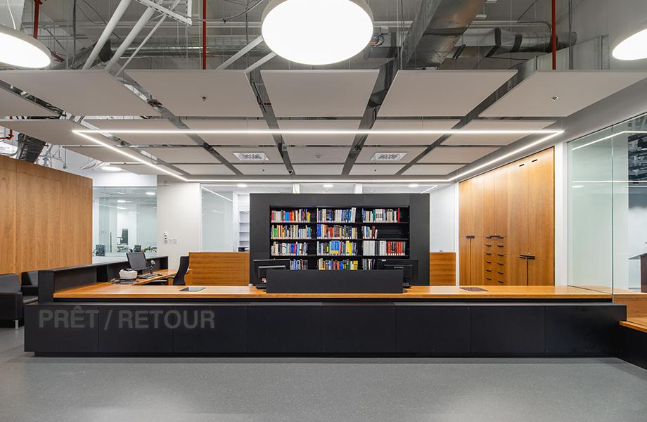 La nouvelle bibliothèque de l'École de technologie supérieure (ETS)