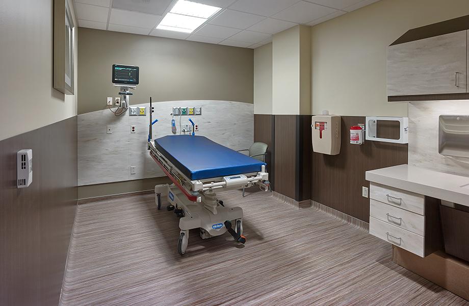 Orange Coast ER hospital room