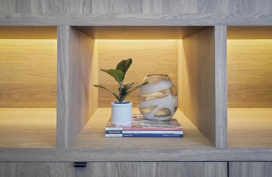 Weber Thompson woodgrain casework