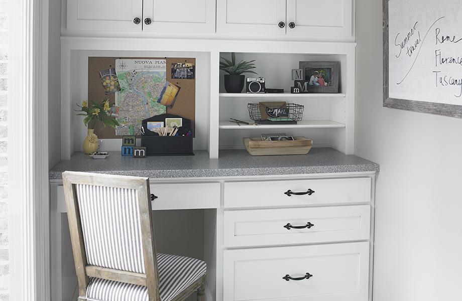 Petit bureau avec plateau et armoires 3518-58 Cristal de Silex