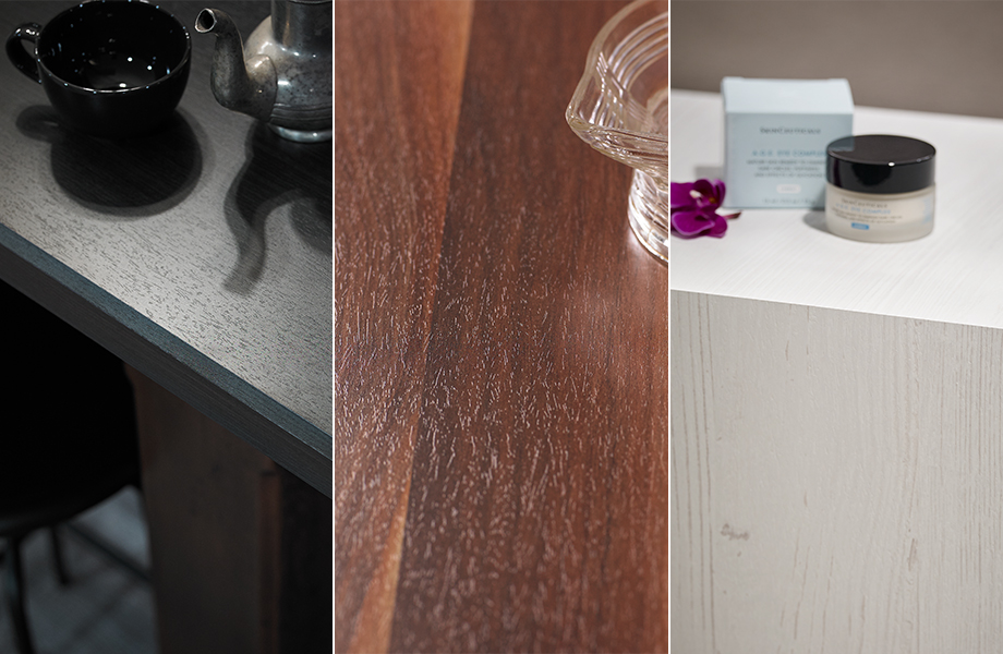 Formica laminate surfaces showing the Natural Grain texture