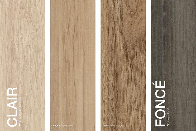 Stratifiés de marque Formica® grains de bois couleurs