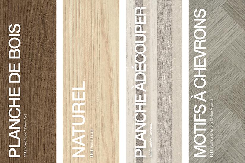Stratifiés de marque Formica® grains de bois styles : Planches de bois, Rotatif/Naturel, Planche à découper, Motif à chevrons