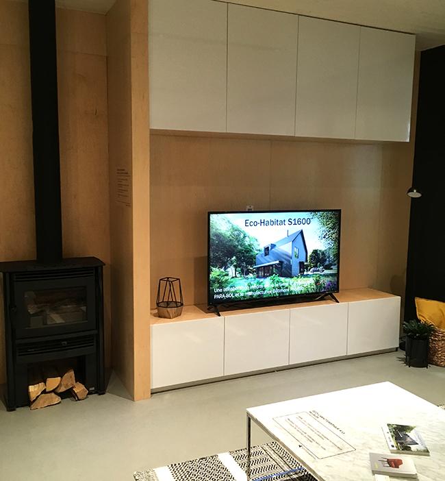 Armoires de salon en Surface Inscriptible de marque Formica® 459-90 Blanc Brillant