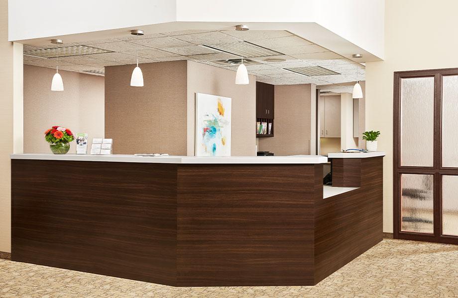 416 Luna Pewter 5790-43 Nut Brown Cherry healthcare desk