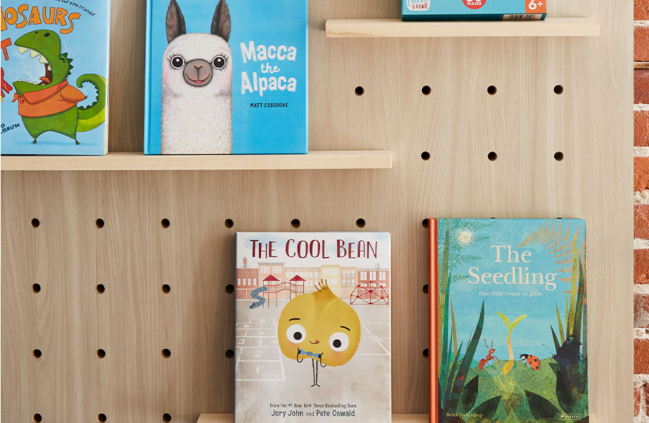 5793-NG Buff Elm laminate children's bookshelf