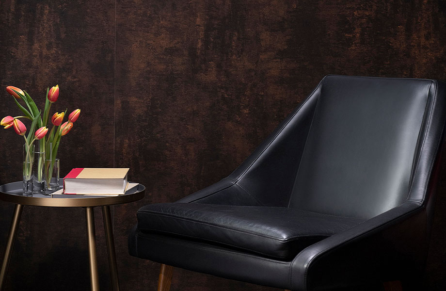 M9424 Copper Patina wall and chair in hotel lobby design