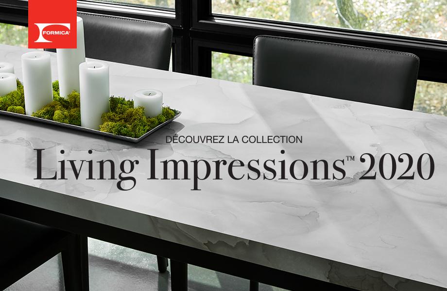 Vidéo sur la collection des stratifiés haute pression Living Impressions™ 2020 du Groupe Formica