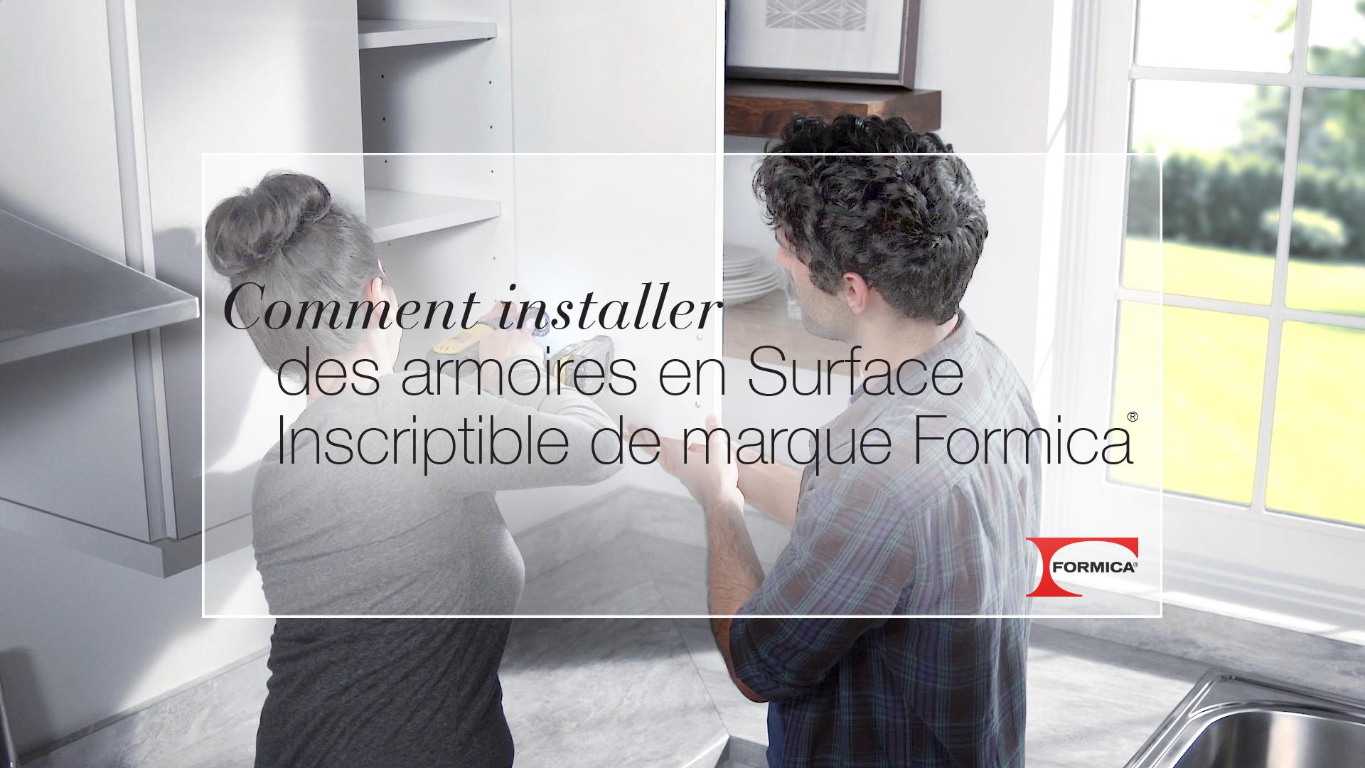 Comment installer des armoires en tableau effaçable du Groupe Formica (avec des Surfaces Inscriptibles de marque Formica®)
