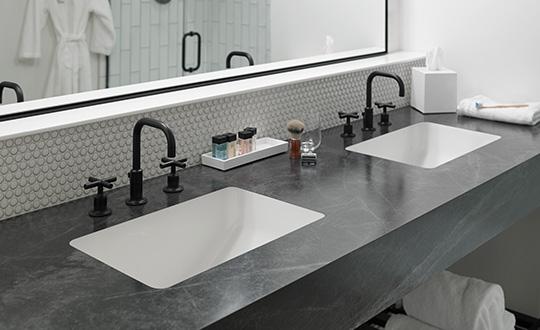 "Kitchen sink with lemons K080 306 Ginger Root Mist Formica Solid Surfacing"""