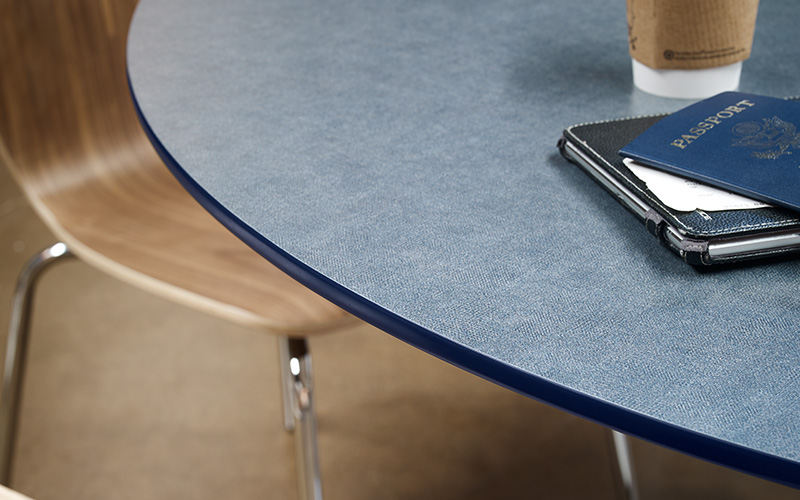 Table top with coffee and passport 9448 Infinity Duotex ColorCore2 Compact